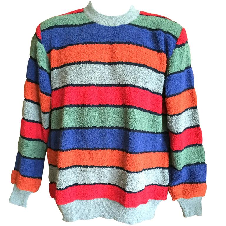 bad54609406e Missoni Uomo 80 s Mens Horizontal Stripe Sweater New with Tags. For ...