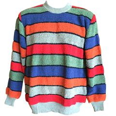 Missoni Uomo 80's Mens Horizontal Stripe Sweater New with Tags.