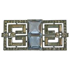 Art Deco Paste Baguette Brooch