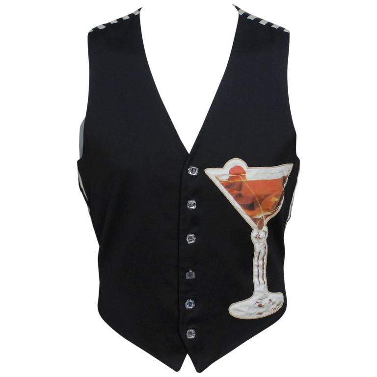 Moschino Mens Cocktail Vest