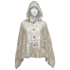 Comme des Garcons hooded lace poncho, c. 1990s