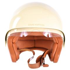 Louis Vuitton Limited Edition Damier Beige Motorcycle Vespa Helmet JaneFinds