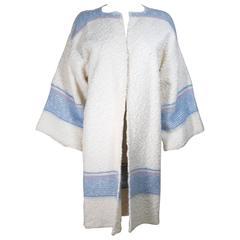 MICHAELE VOLLBRACHT Circa 1980's Boucle Wool and Angora Knit Sweater