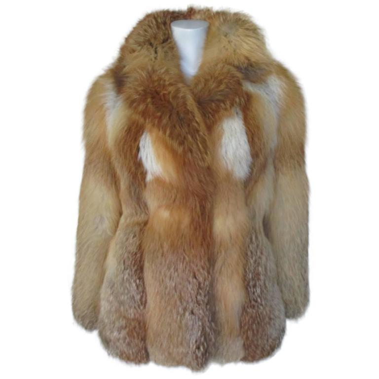 Red fox fur jacket 1