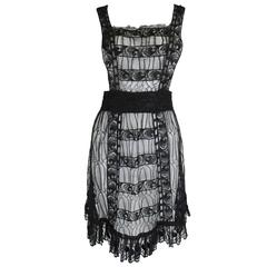 Chloe Black Lace Embroidered Pinafore