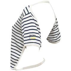 Jean Paul Gaultier documented striped backless sweater 'L'Homme Objet', c. 1983