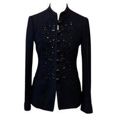 Moschino Cheap Chic Black Wool Military Jacket