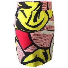 Moschino Cheap Chic Roy Lichtenstein Skirt