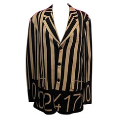 Moschino Men's Wool Blazer Striped