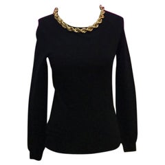 Moschino Couture Gold Chain Black Sweater NWT