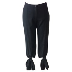 Moschino Black Wool Knee Length Pants