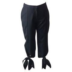Moschino Gray Pin Striped Knee Length Pants