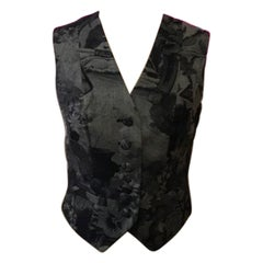 Moschino Cheap Chic Gray Wool Vest Vintage