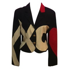 Moschino Red Cheap Chic Heart Love Jacket