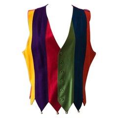 Moschino Cheap Chic Wool Vest Rainbow Bells