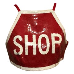 Moschino Couture Red White Stop Sign Top Nwt