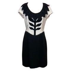 Moschino Cheap Chic Flower Dress Black White