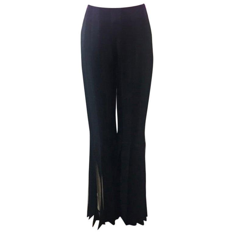 Moschino Black Satin Tuxedo Pants