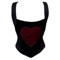 Moschino Cheap Chic Velvet Heart Bustier