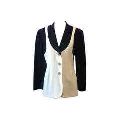 Moschino Couture Black Ivory Blazer