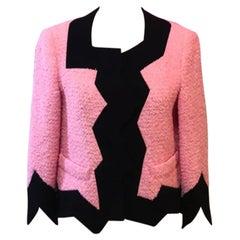 Moschino Cheap and Chic Pink Black Boxy Jacket