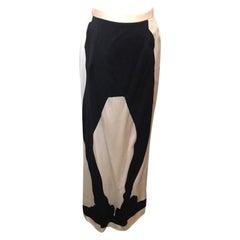 Moschino Cheap Chic Silhouette Olive Oyl Maxi Skirt