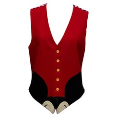 Moschino Cheap & Chic Mickey Mouse Wool Vest