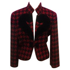 Moschino Cheap Chic Red Black Houndstooth Jacket