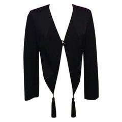Moschino Cheap Chic Black Satin Tuxedo Jacket