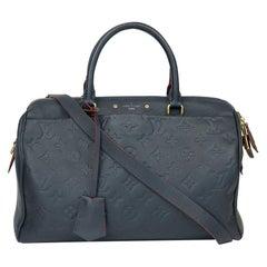 Louis Vuitton, Speedy in blue leather