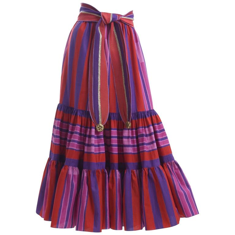 1979 Emanuel Ungaro Skirt and Belt For Sale