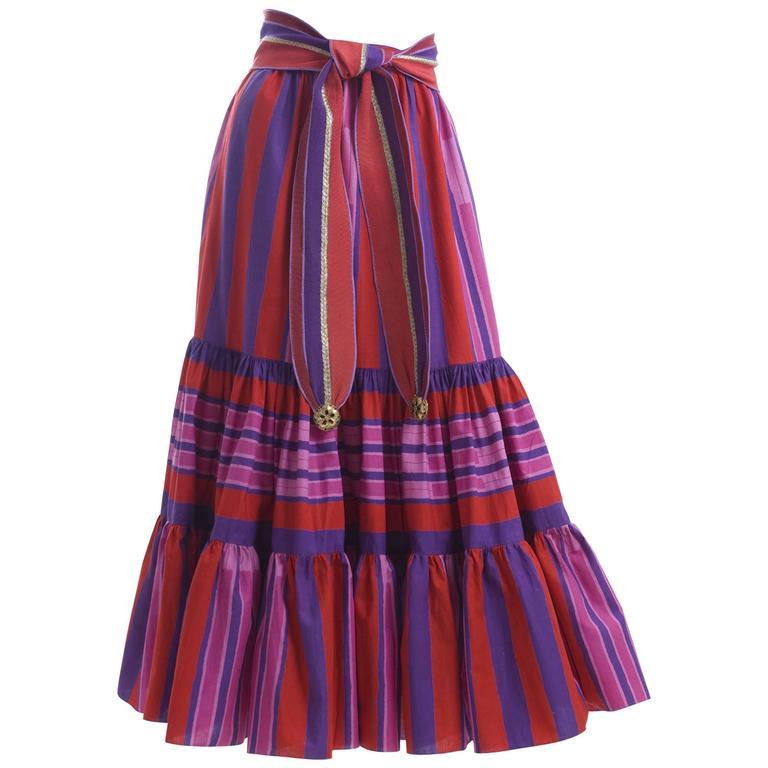 1979 Emanuel Ungaro Skirt and Belt 1