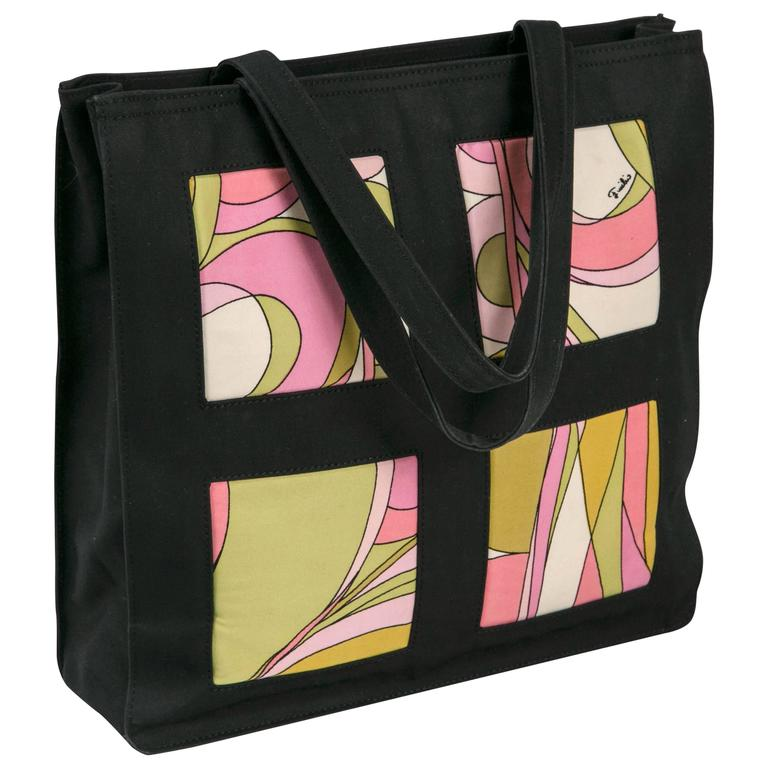 Unusual Pucci tote, purse or day bag by funky finders For Sale