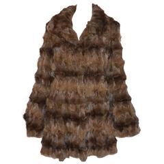 Zandra Rhodes Vintage Reversible Painted Fur Coat