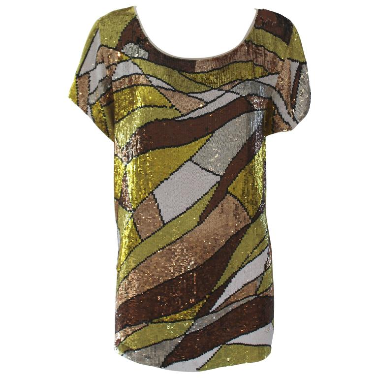 Pucci Sequined Mod Tunic