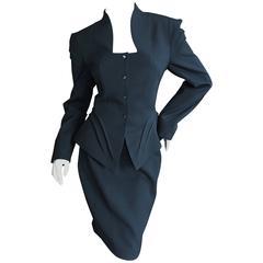 Thierry Mugler Vintage 80's Black Evening Suit Size 40