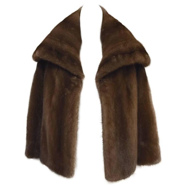 Mary McFadden Furs Brown Platinum Fur Mink Coat  For Sale