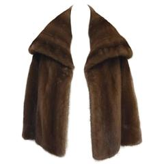 Mary McFadden Furs Brown Platinum Fur Mink Coat