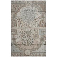 Hermes Grey & Ivory Aux Portes Du Palais Silk 90cm Scarf