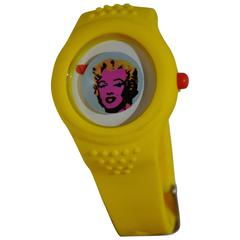 "Andy Warhol ""First Edition"" Banana Yellow Band ""Marilyn Monroe"" Watch"