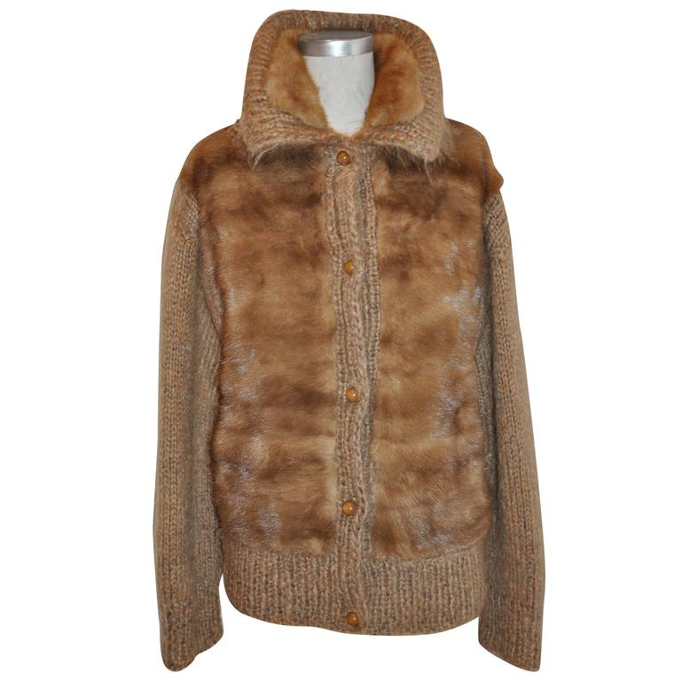 Feig Creations Haute Fourrure Fully Lined Mohair with Female Mink Jacket