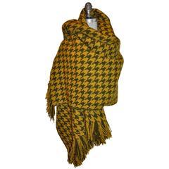 """Pendleton Huge Wool """"Autumn Shades"""" Shawl with Fringe"""