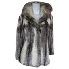 Beautiful black cross mink fur jacket