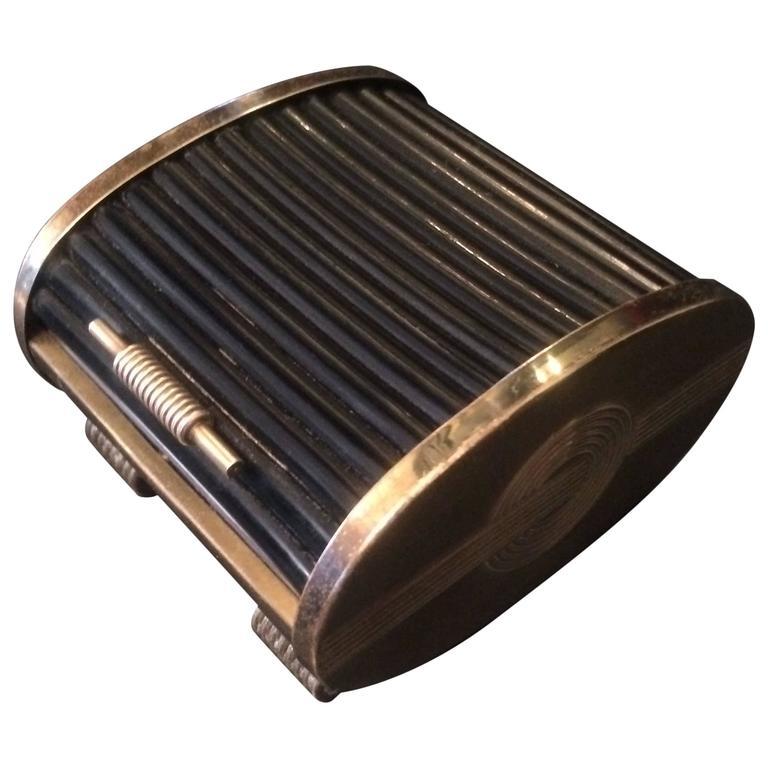 Brass Box with Retractable/Tambour style door