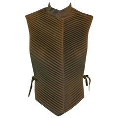 A/W 1999 Alexander McQueen Runway Chinese Warrior Armor Style Vest Top