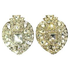Yves Saint Laurent Moghul Crystal Pave Earclips