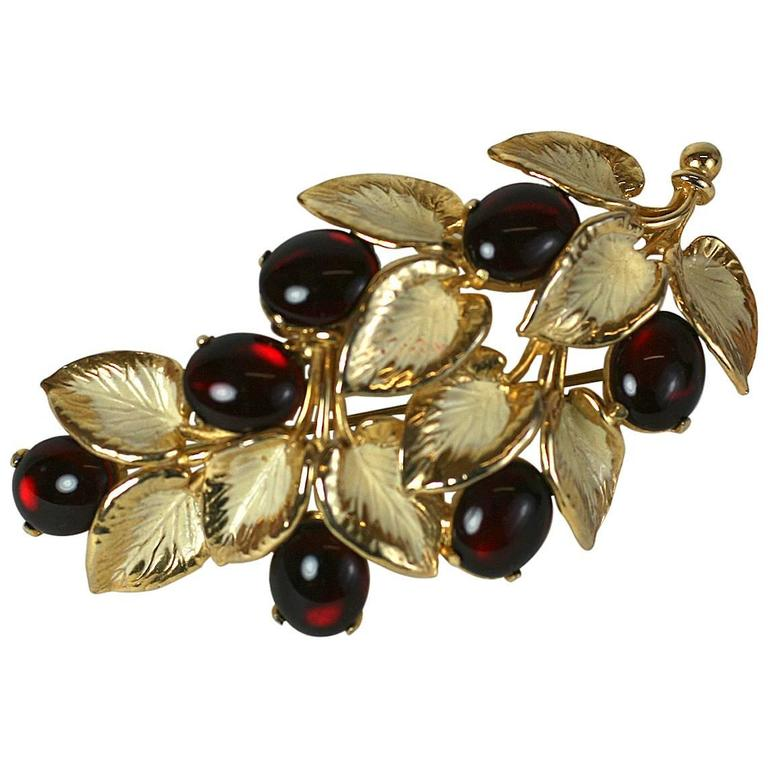 Schiaparelli Berry Branch Brooch For Sale