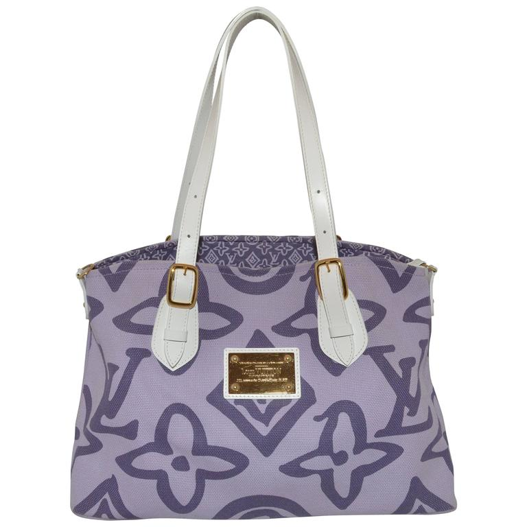 Louis Vuitton Tahitienne Cabas Canvas Tote Bag For