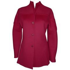 Chado Ralph Rucci 100% Cashmere Red/Raspberry Jacket Size 6