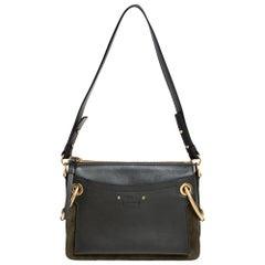 Chloe Green Leather Roy Crossbody Bag